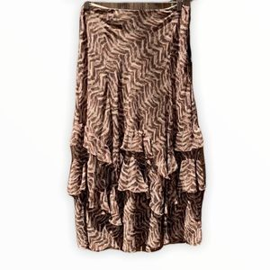 NWT Brown patterned skirt